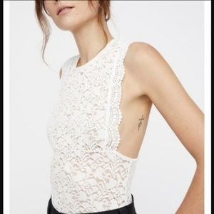 Intimately Free People M Sure Thang Lace Tank Top